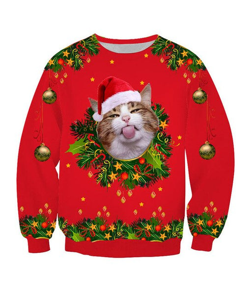 Funny Cat Christmas Sweater