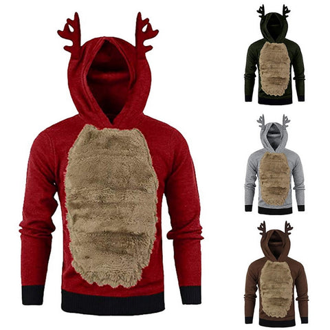 New Christmas Men/Women Hoodies Sweater Christmas Cute Elk Cosplay Sweater Unisex Leisure Festival Ugly Rudolph Reindeer Sweater