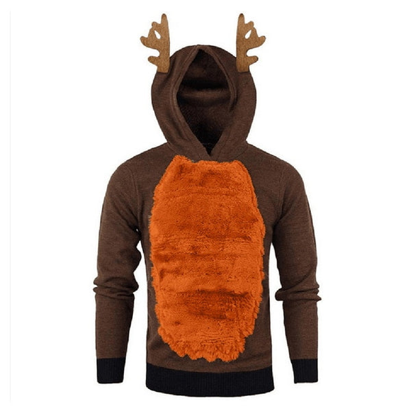 Christmas Men/Women Elk Sweater - Festival Ugly Reindeer Sweater