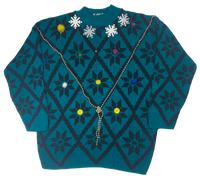Vintage Blue Ugly Christmas Sweater