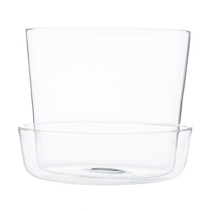 Clear Glass Pot With Tray