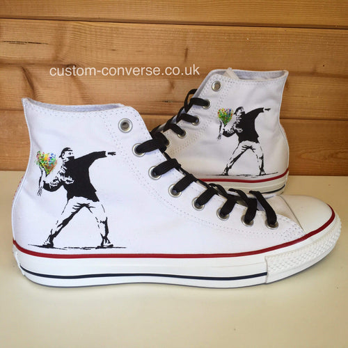 Banksy Flower Thrower - Custom Converse Ltd.