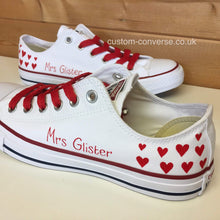 Load image into Gallery viewer, Bridal Hearts - Custom Converse Ltd.