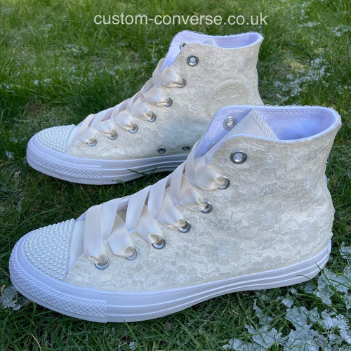 Converse Wedding Lace Covering