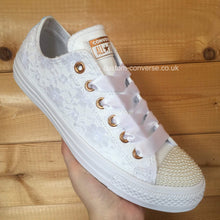 Load image into Gallery viewer, Lace Covering Leather Converse - Custom Converse Ltd.