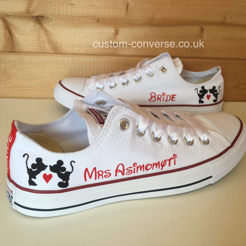 Minnie Heart Mickey Silhouette - Custom Converse Ltd.