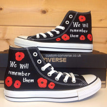 Load image into Gallery viewer, Remembrance Poppy - Custom Converse Ltd.