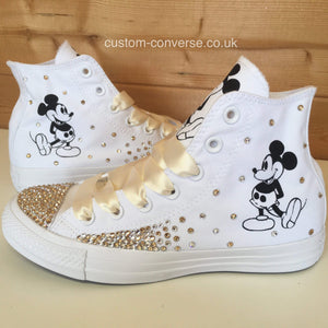 Swarovski Mickey Mouse - Custom Converse Ltd.