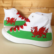 Load image into Gallery viewer, Welsh Flag - Custom Converse Ltd.