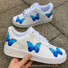 Load image into Gallery viewer, Blue Butterflies - Custom Converse Ltd.