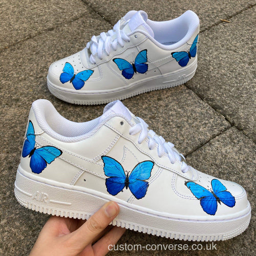 Blue Butterflies - Custom Converse Ltd.