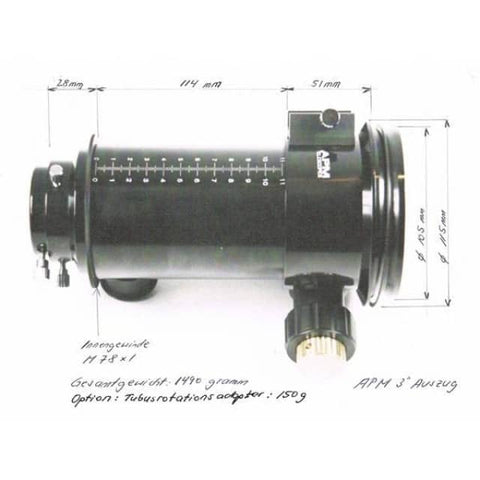 "Image of APM 3"" Rack and Pinion Focuser APM-3-ZTA"