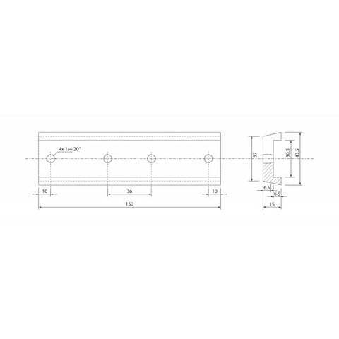 Image of APM Deluxe Dovetail Rail 150mm APM-DX-DT-150