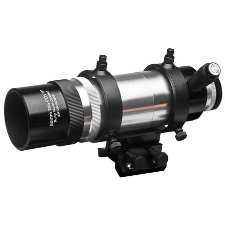 Image of Explore Scientific 8x50 Straight Through Illuminated Viewfinder with Bracket and NEW Long Battery Life Illuminator II VFEI0850-01
