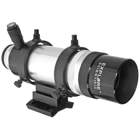 Explore Scientific 8x50 Straight Through Illuminated Viewfinder with Bracket and NEW Long Battery Life Illuminator II VFEI0850-01