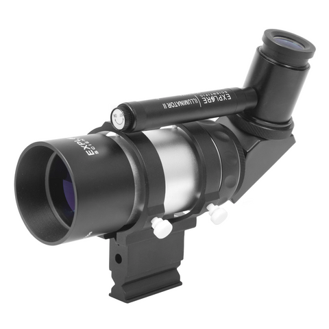 Image of Explore Scientific 8x50 Illuminated Polar Right Angle Finder Scope with NEW Long Battery Life Illuminator II VFEI0850-RA