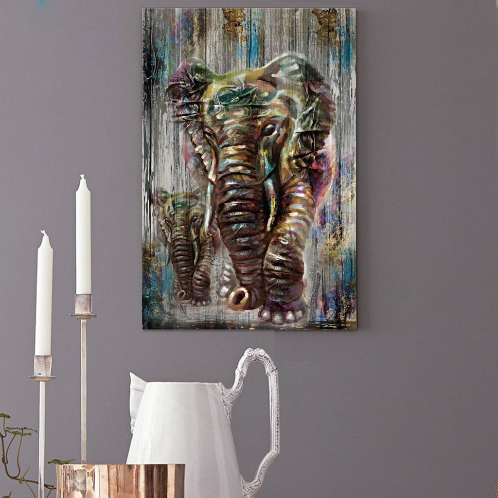 Unframed Canvas Prints Modern Home Wall Decor Art Painting Watercolor Elephant