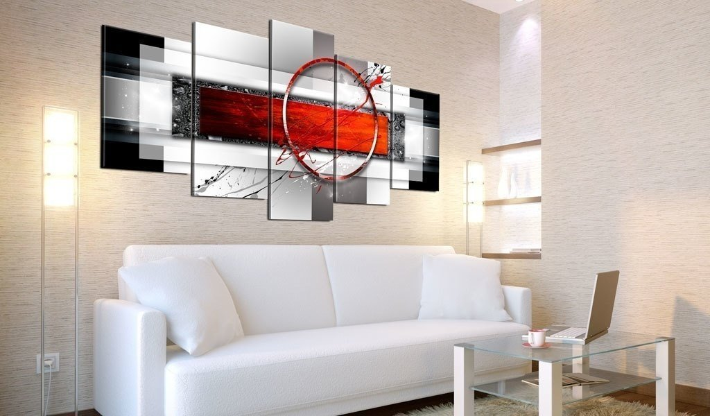 Unframed 5 Panel Oil Painting on Canvas Abstract Design for Room Decoration Livingroom Decor Colorful
