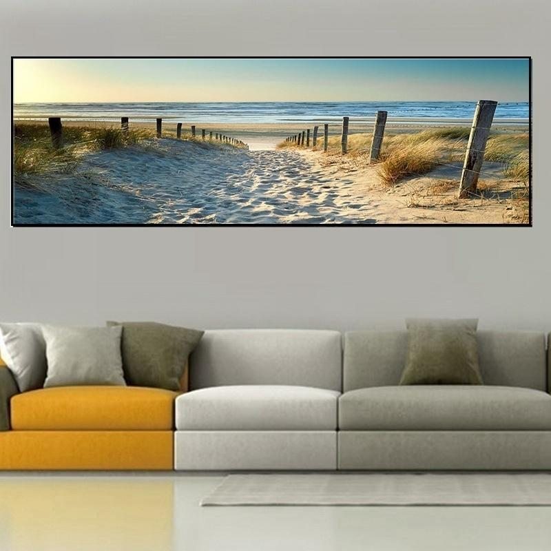 4 Sizes Canvas Print Wall Art Ocean Beach Nature Landscape Picture No Frame Home Decor