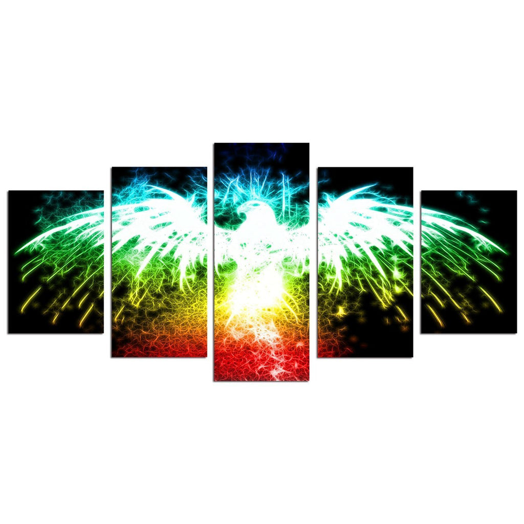 Large Canvas Wall Art Colorful Eagle Painting Pictures for Wall Colorful Animal Canvas Art Prints Modern Home Office Decoration - Unframed