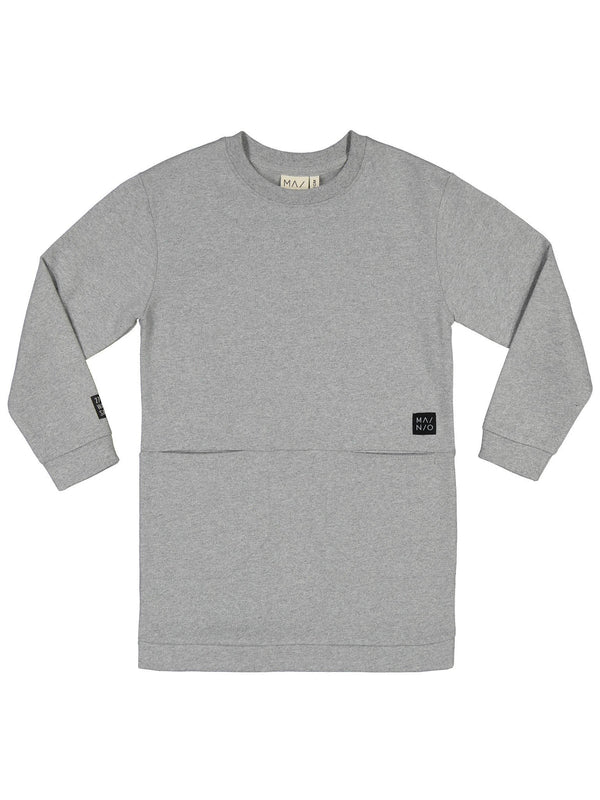 Pure Sweat Tunic, light grey melange