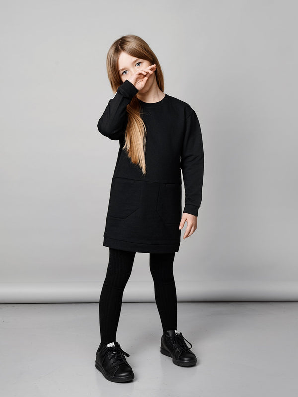 Pure Sweat Tunic, black