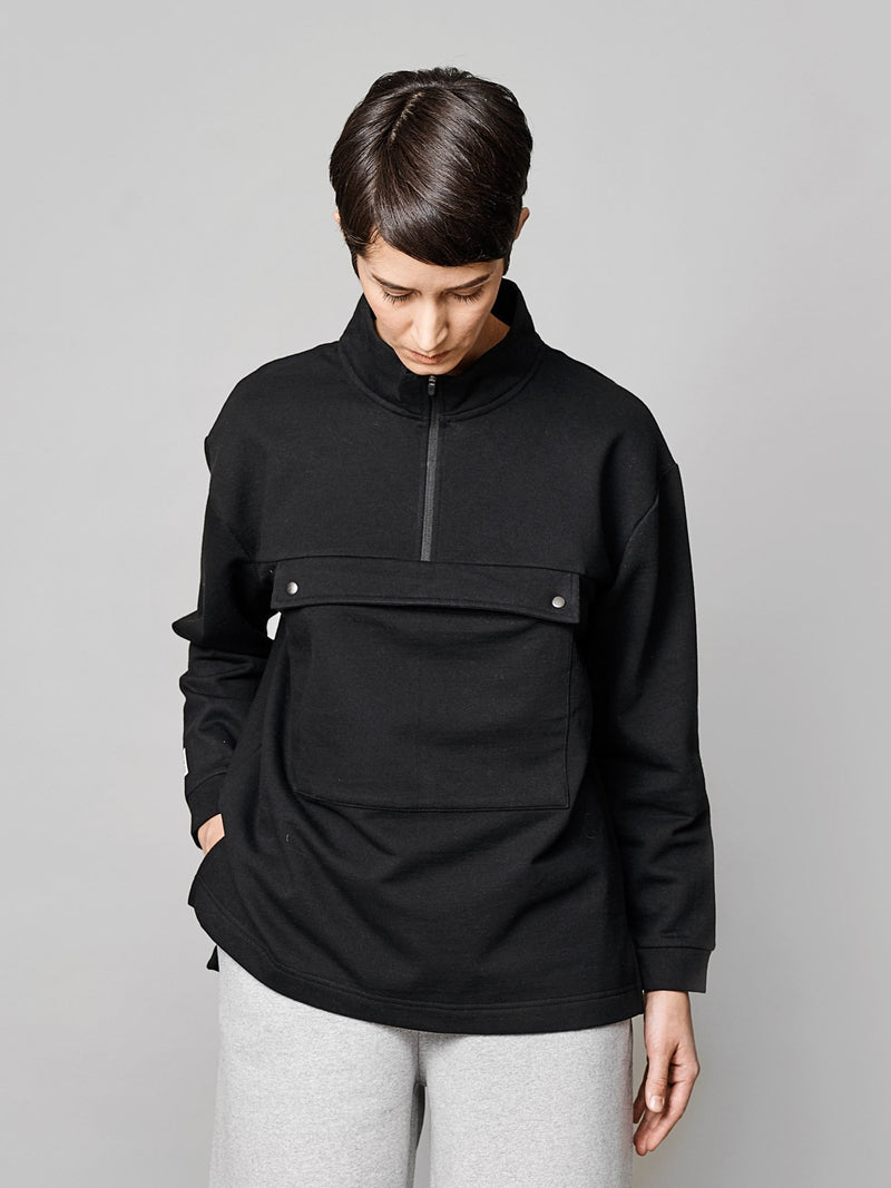 Women's Pure Anorak Sweatshirt, black