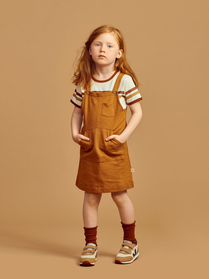 Slub Pinafore Dress
