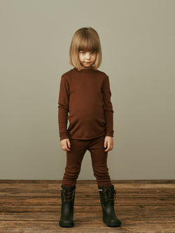Merino Wool Leggings, Cinnamon