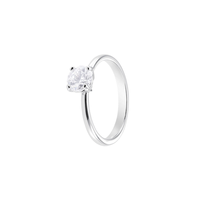 ANILLO ATTRACT, BLANCO, BAÑO DE RODIO