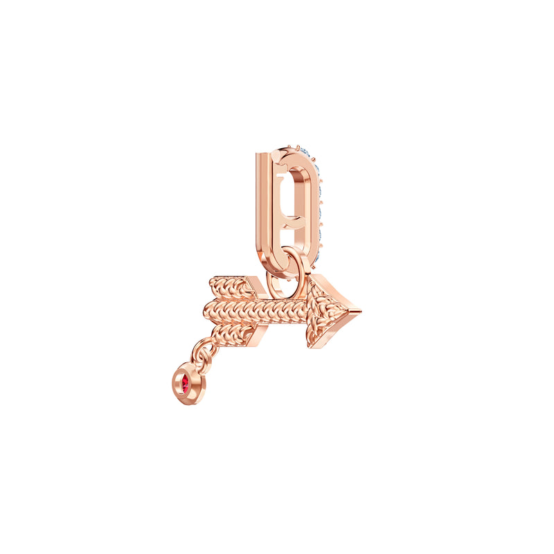 SWAROVSKI REMIX COLLECTION ARROW CHARM, BLANCO, BAÑO EN TONO ORO ROSA