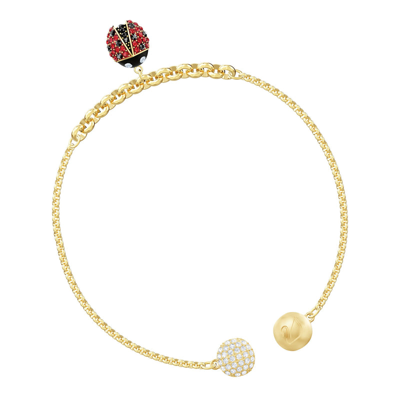 SWAROVSKI REMIX COLLECTION LADYBUG STRAND, MULTICOLOR, BAÑO EN TONO ORO