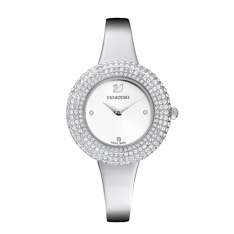 Reloj Crystal Rose, Brazalete de metal, acero inoxidable