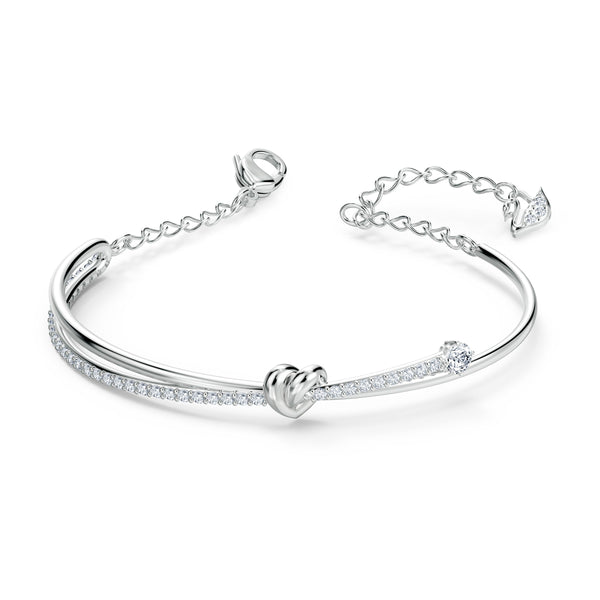 BRAZALETE LIFELONG HEART, BLANCO, BAÑO DE RODIO