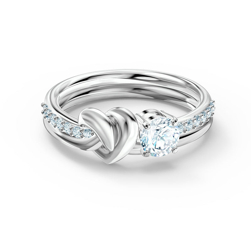 ANILLO LIFELONG HEART, BLANCO, BAÑO DE RODIO