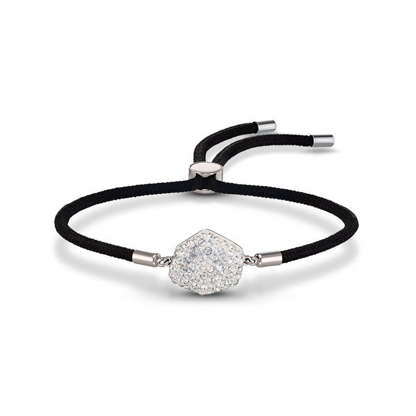 PULSERA SWAROVSKI POWER COLLECTION AIR ELEMENT, NEGRO, ACERO INOXIDABLE