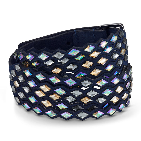 PULSERA SWAROVSKI POWER COLLECTION NAVY, AZUL