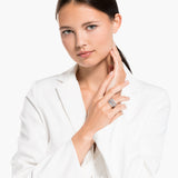 ANILLO TWIST WRAP, BLANCO, BAÑO DE RODIO
