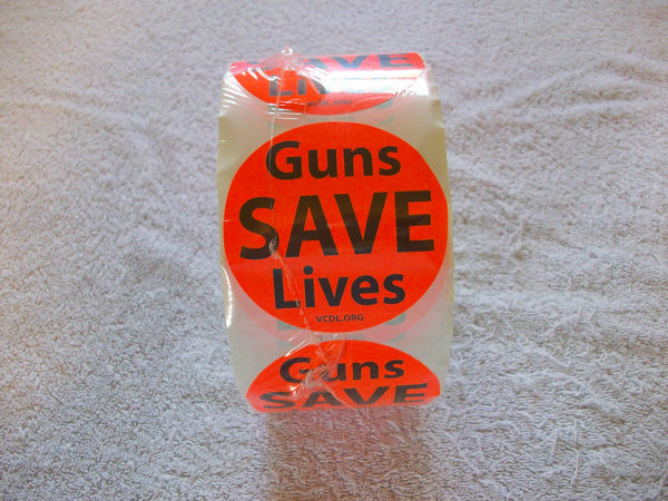 Guns Save Lives Sticker Rolls