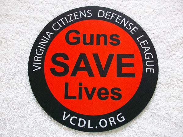 Guns Save Lives Sticker with Ring - 5 inch