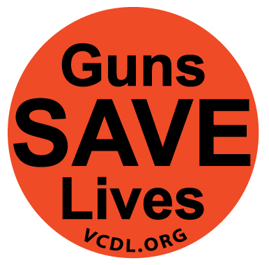 Large Guns Save Lives Sticker