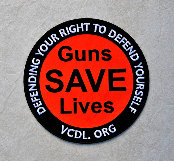 Guns SAVE Lives Patch - 10 Inch