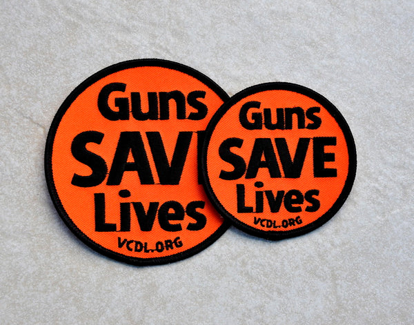 Guns SAVE Lives Patch - 4 Inch