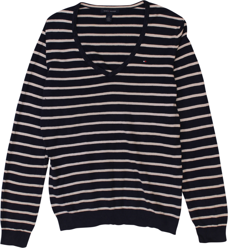 Striped V-Neck Sweater by Tommy Hilfiger