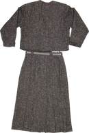 Grey Suit with Pleated Skirt
