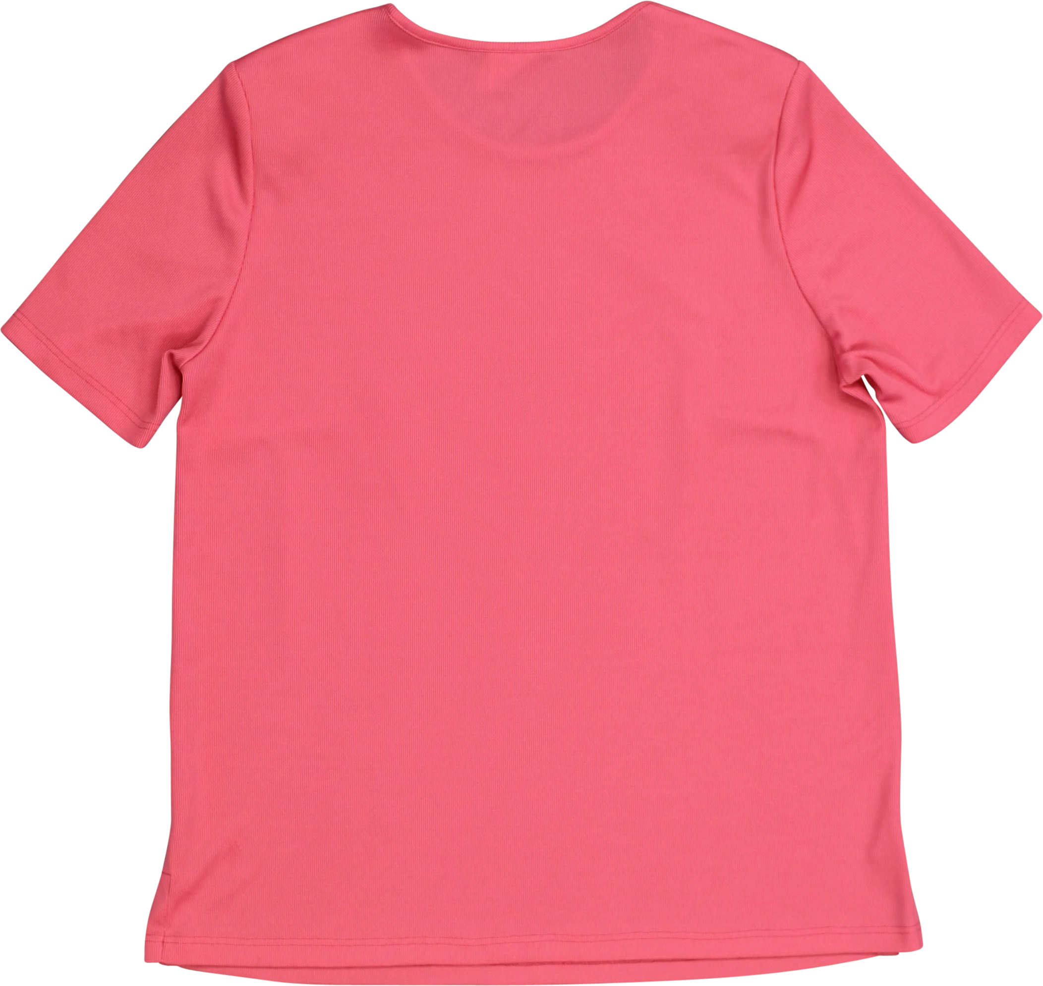 Pink T-shirt with Shoulder Pads