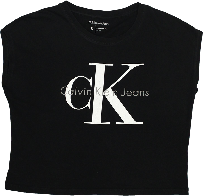 90s Black T-shirt by Calvin Klein