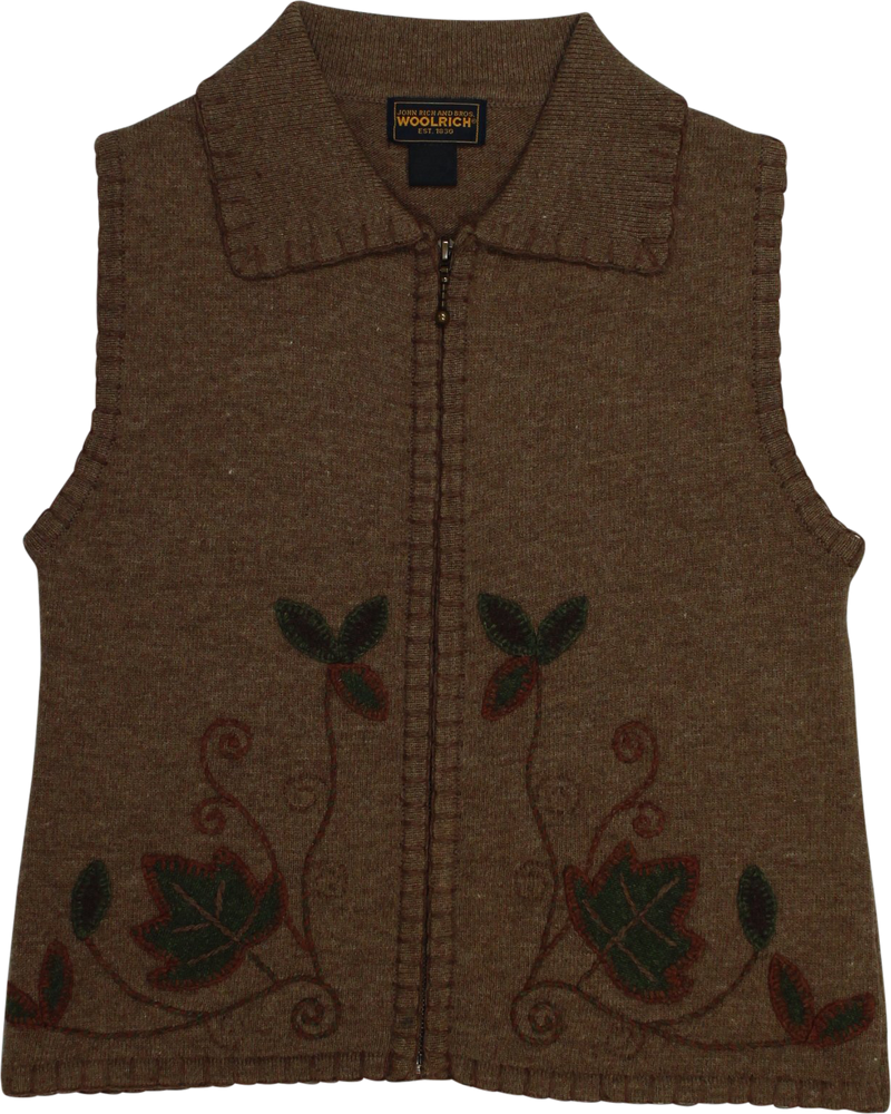 Brown Sleeveless Vest by Woolrich