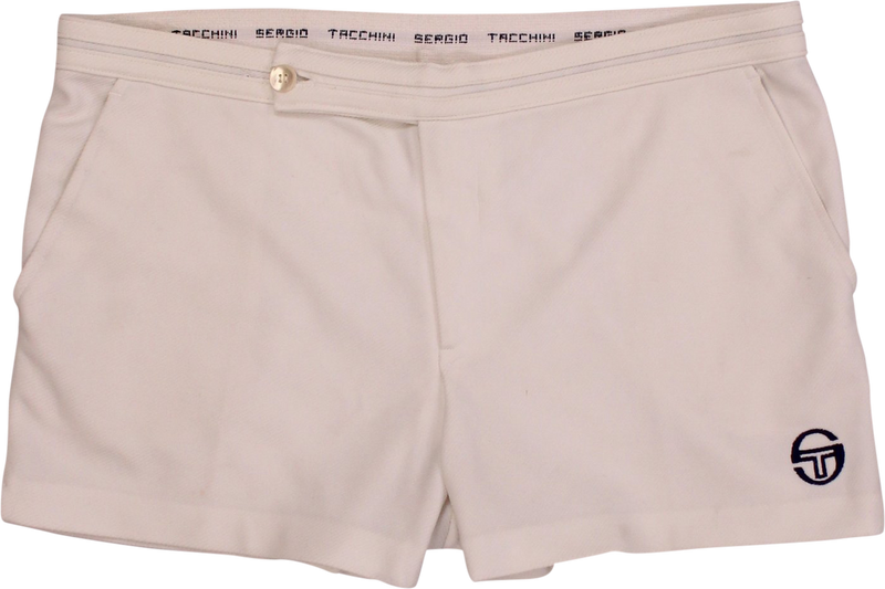 Retro White Tennis Shorts by Sergio Tacchini