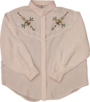 White Blouse with Embroidery